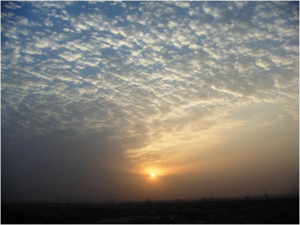 2012 09 11 A beautiful sunrise in the desert