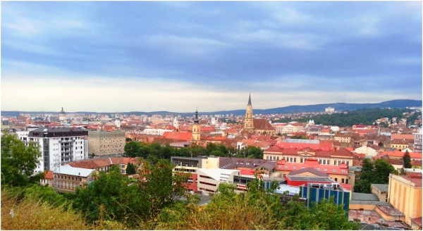 2013 08 15 View over Cluj from Cetatuia Hill