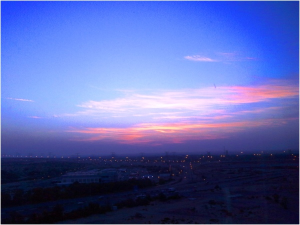 2013 03 06 Sunrise at Skycourts Dubailand
