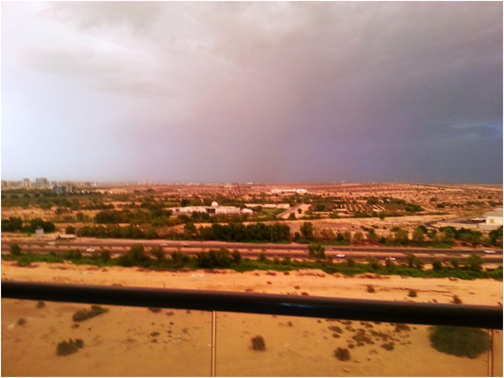 2013 09 09 Storm at Skycourts Dubailand