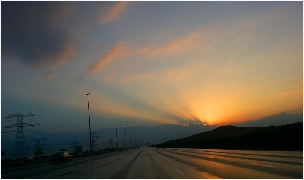 2014 01 07 Sunset Dubai Bypass Road