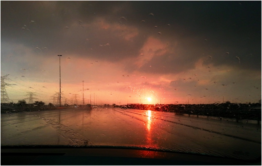 2014 01 07 Sunset Dubai Bypass Road