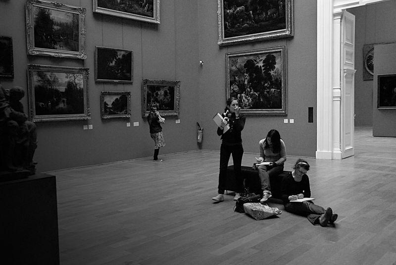 Une classe au musée de beaux arts à Lille