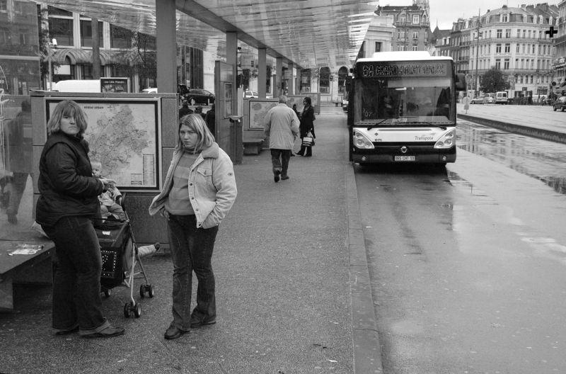 Un arrêt de bus à Lille