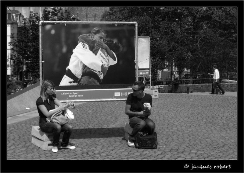 une exposition de rue à Bruxelles