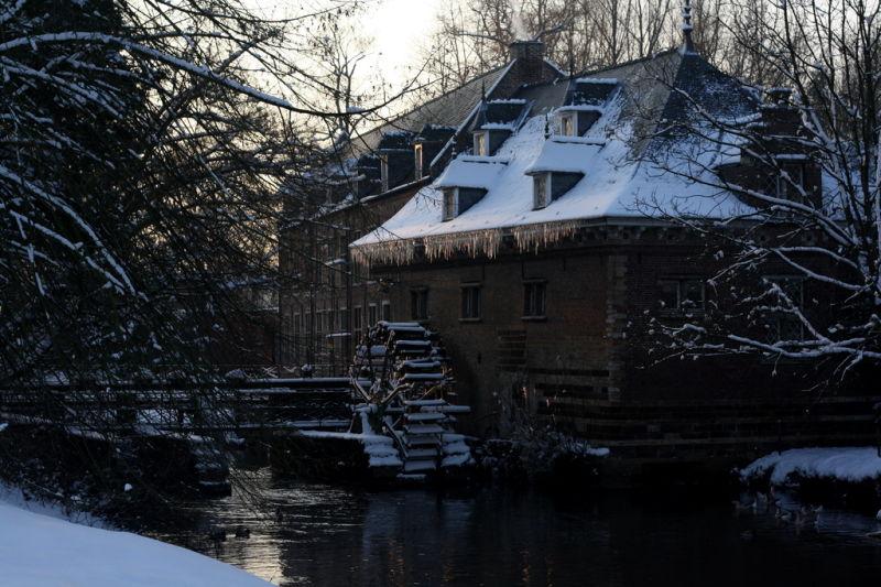 Old frozen mill