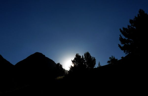 France backlight sunrise