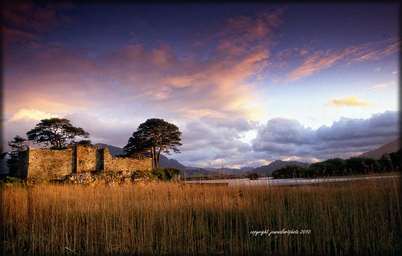 castle,sunrrise,history,heritage,kerry,ireland
