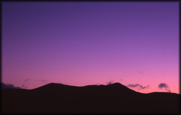 volcanic ash sunrise