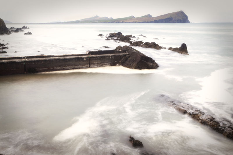 famine pier on the west coast of Ireland