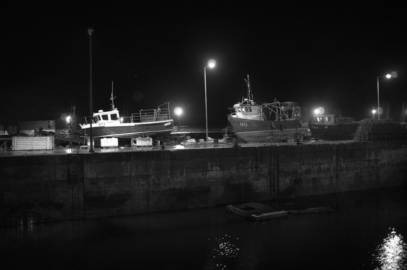 Fenit harbour at night