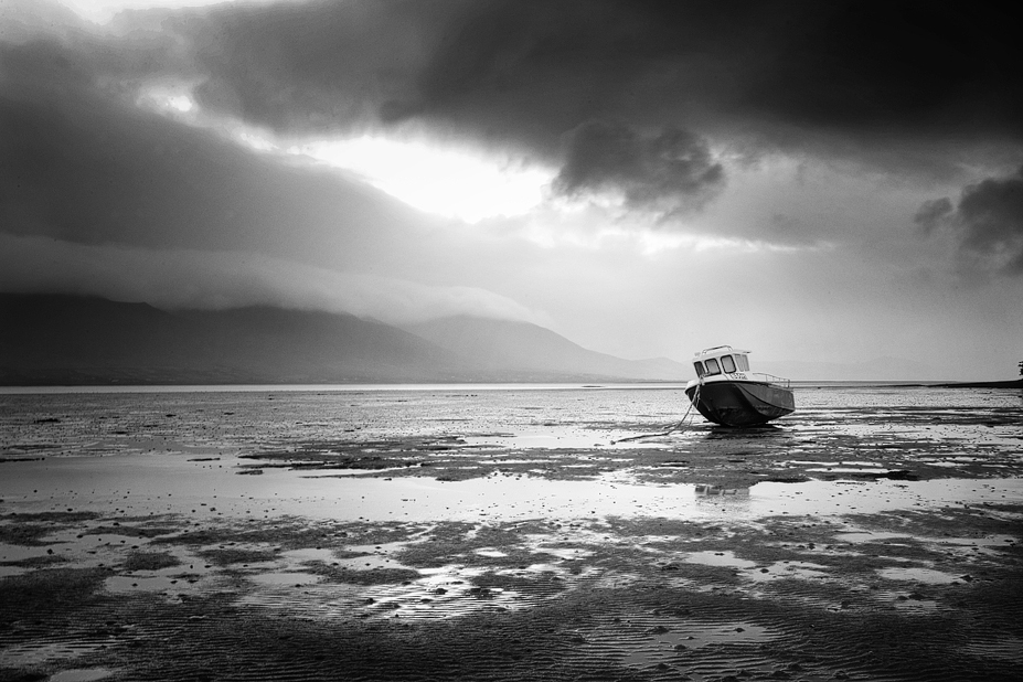 Fishing Boat at low tide Tralee Bay