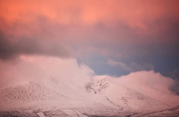 mountain sunrise over kerry mountains Ireland