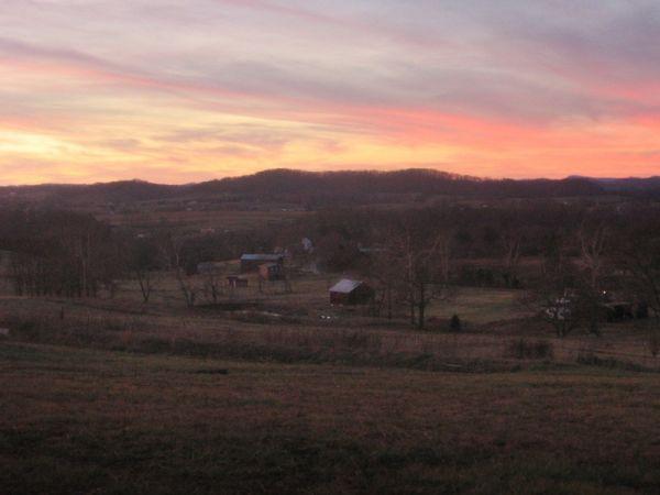 A warm winter sunset