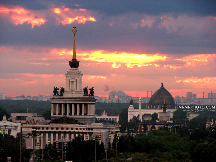 Sunset, Moscow, Architecture