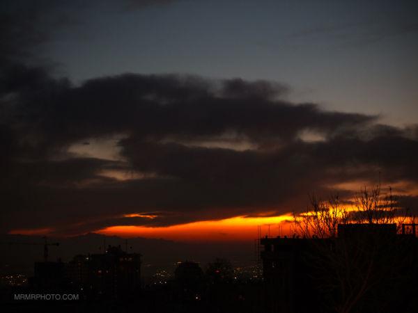 Fire in sky