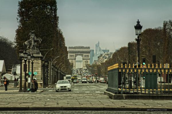 Street of Champs elysee in Paris