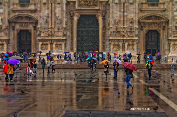 A rainy day in Duomo | Milan