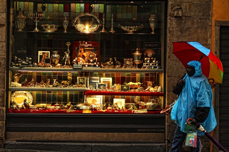 A shop on Ponte Vicchio in Florence