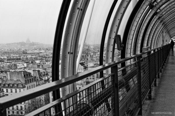 Paris from Pompidou center
