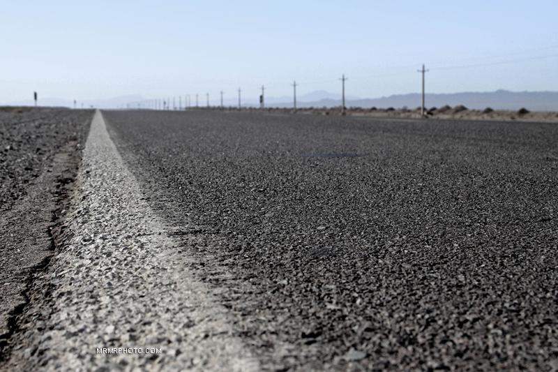 desert road in Iran