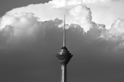 Milad tower and clouds