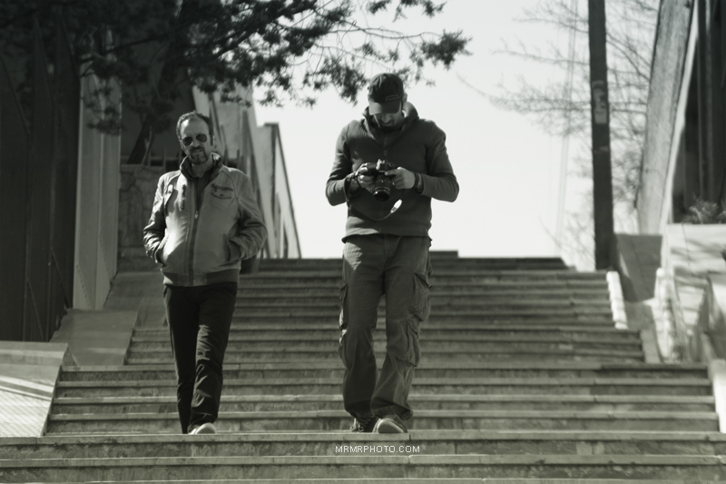 Steps and Camera Man