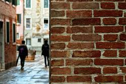Brick wall in Venice