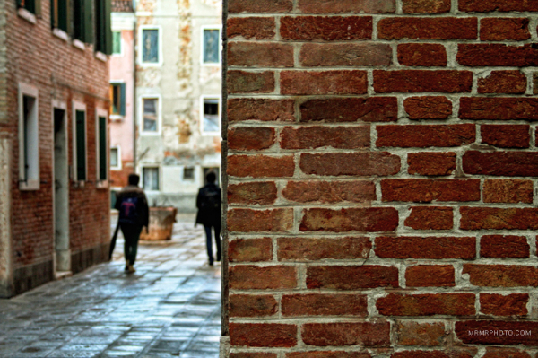 Brick wall in Venice