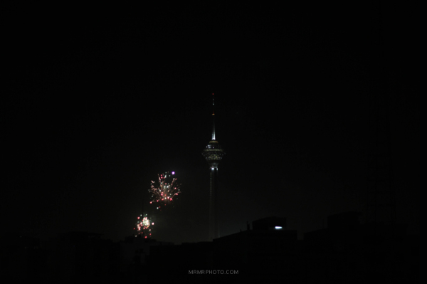 Milad tower at night