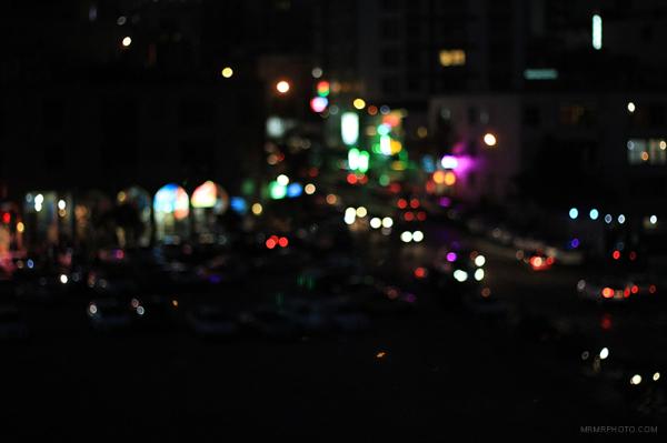 Circles at night