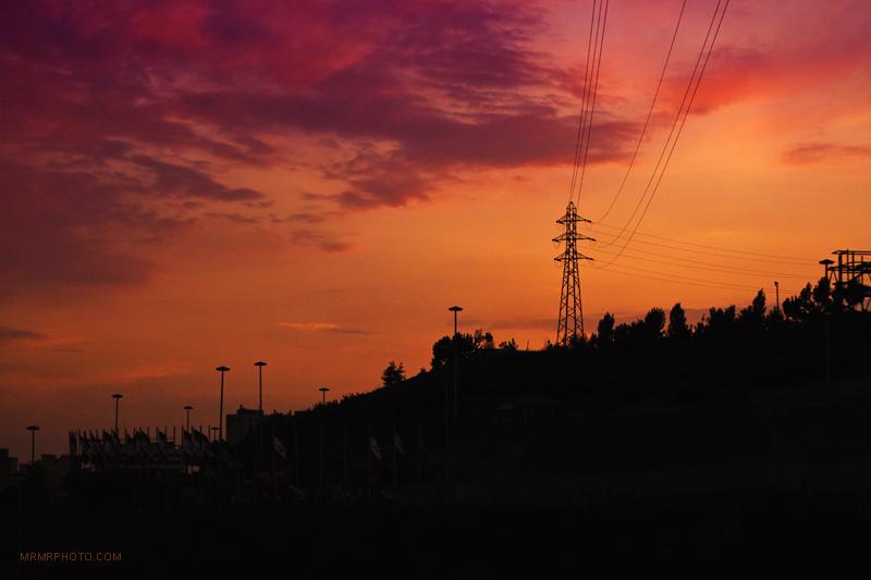 Sunset in Tehran