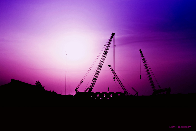 Bandar Anzali Cranes