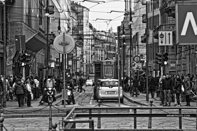 Street view in Milan