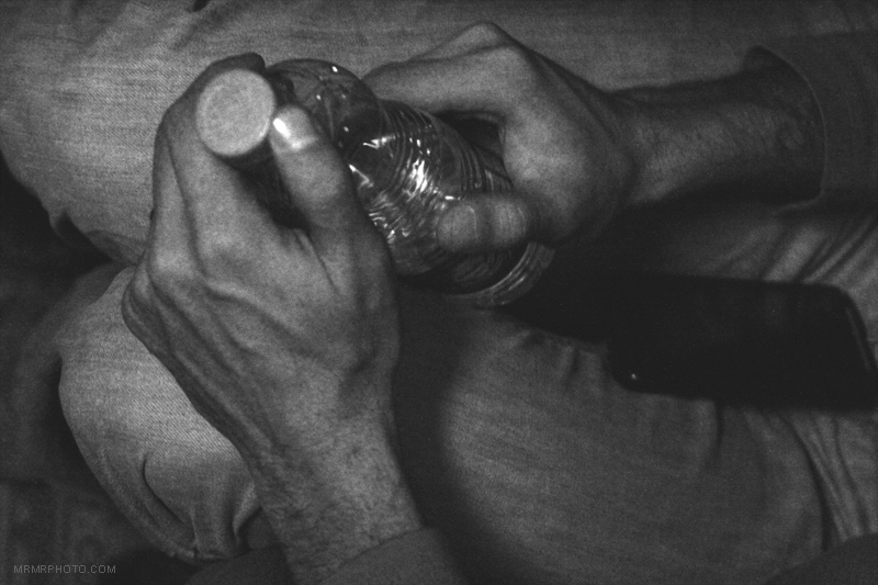Hands & bottle