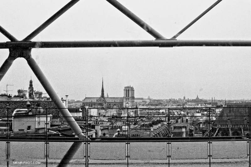 Notre-Dame Cathedral from Georges Pompidou Center