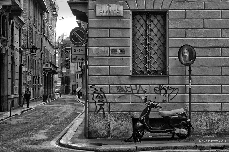 An alley in Milan