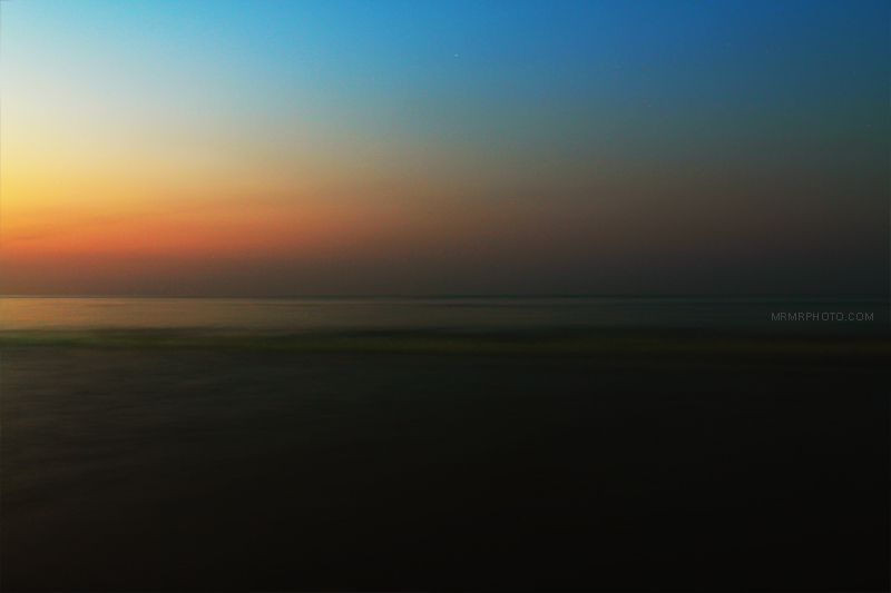Caspian Sea at sunset