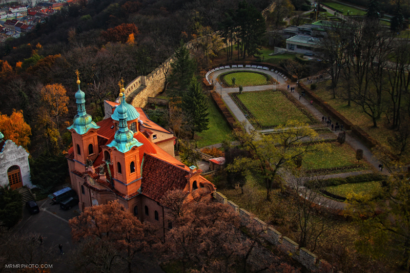 Near the Petřín tower