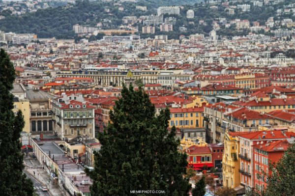 Red roofs in Nice