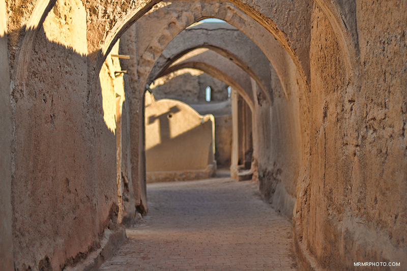 Old alley in jandagh wall architecture