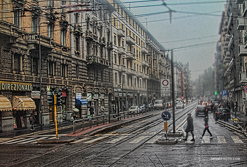 A Rainy Day in Milan
