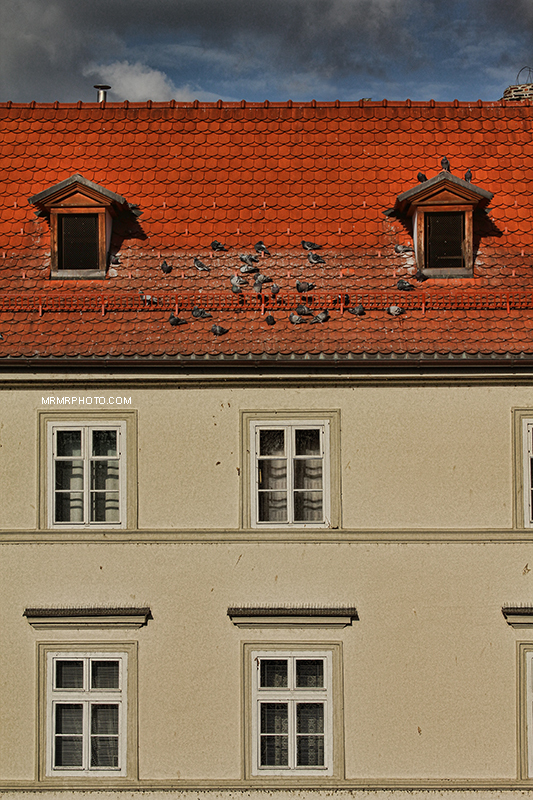 Red roof in Prague