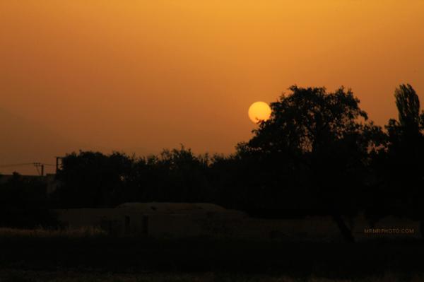 Sunset in Golpaygan