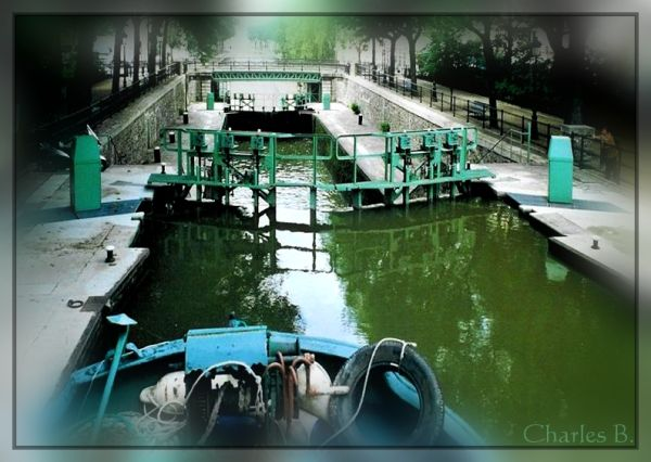 Canal Saint-Martin, juillet 2003