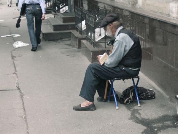 Poor old man