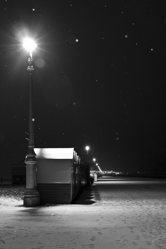 Hove promenade in the snow