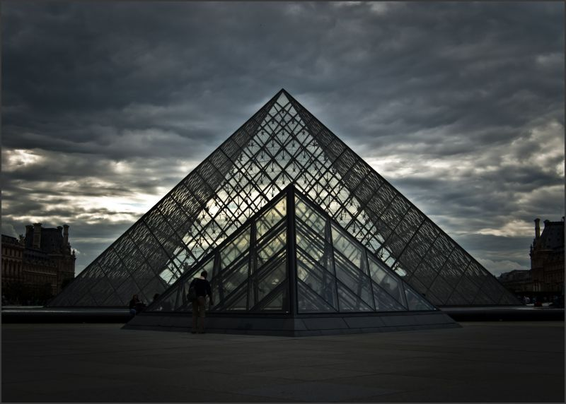Gloomy day at the Louvre