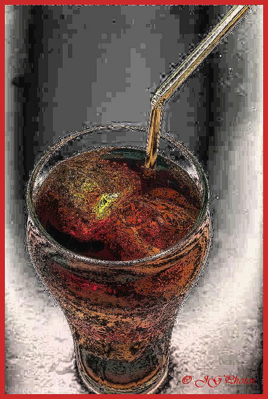 Un verre de coca-cola