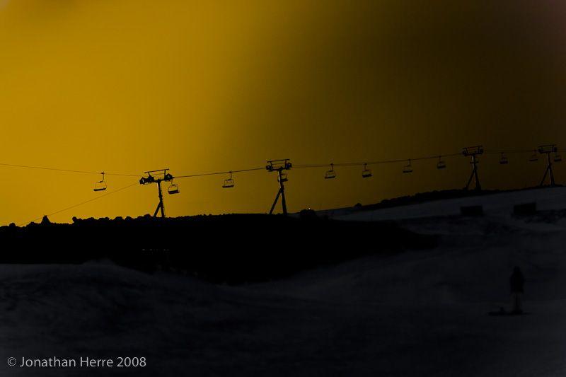 Palmer Lift, sunset.